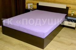 Купить фиолетовую махровую простынь на резинке в Иркутске